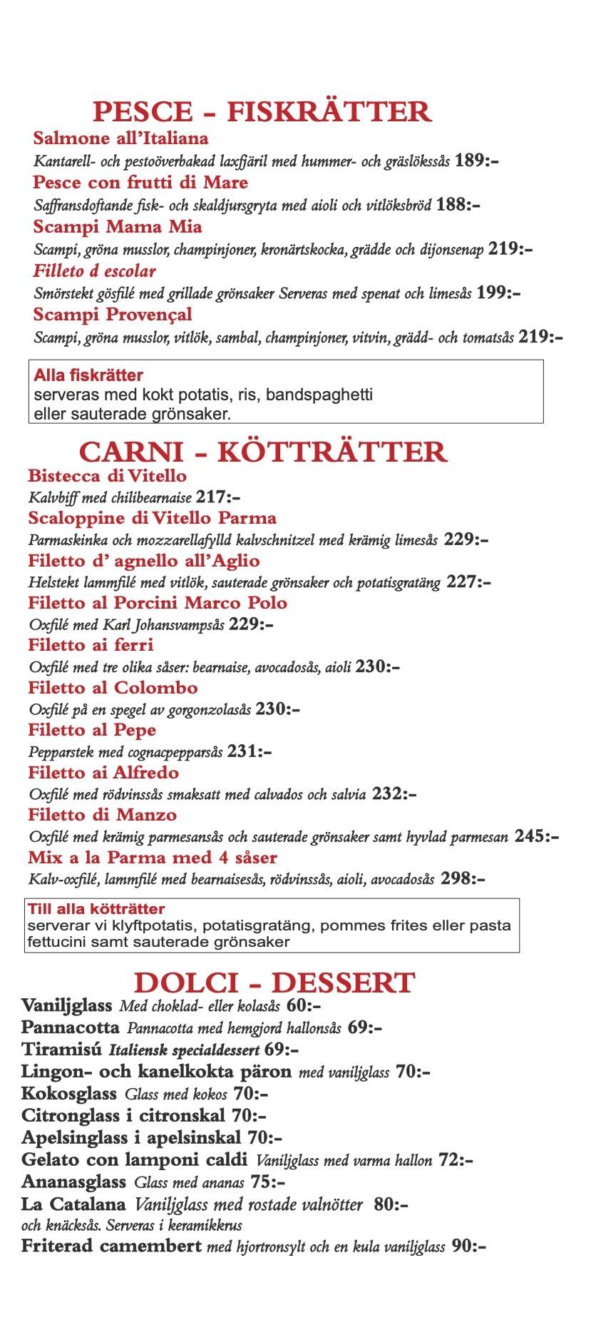 Restaurang Parma hämtmeny sid 1